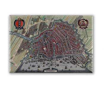 Koelkastmagneet, Plattegrond Amsterdam 1615