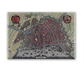 Kühlschrankmagnet, Amsterdam Karte 1615