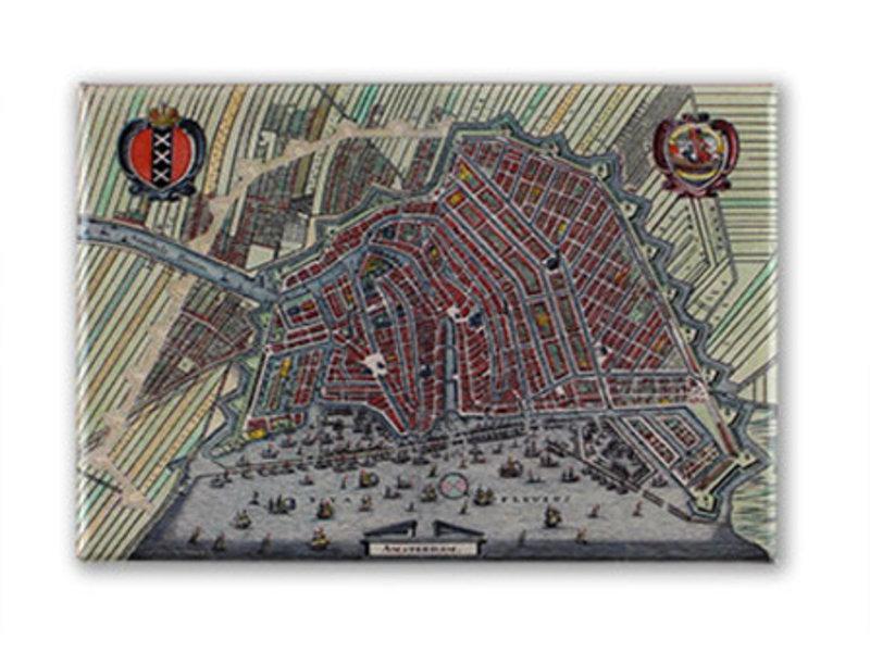 Fridge magnet, Amsterdam map 1615