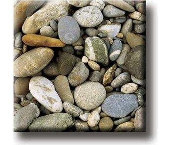 Imán de nevera, patrón de piedra