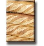 Imán de nevera, pan francés