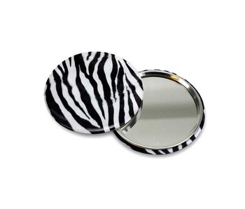 Pocket Mirror Small, Ø 60 mm Skin, Zebra