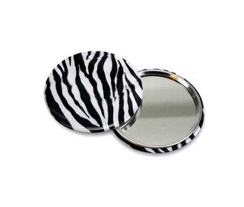 Spiegeltje, klein, Ø 60 mm Zebra patroon