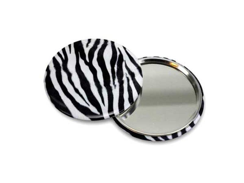 Taschenspiegel klein, Ø 60 mm Haut, Zebra