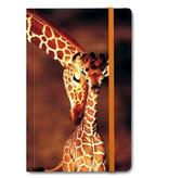 Softcover notitieboekje, Giraffe en baby giraffe