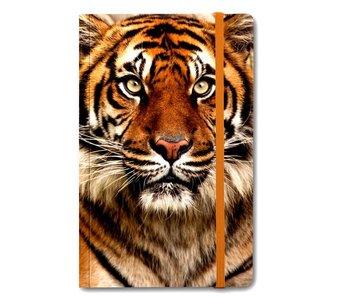 Cuaderno de tapa blanda A6, cabeza de tigre