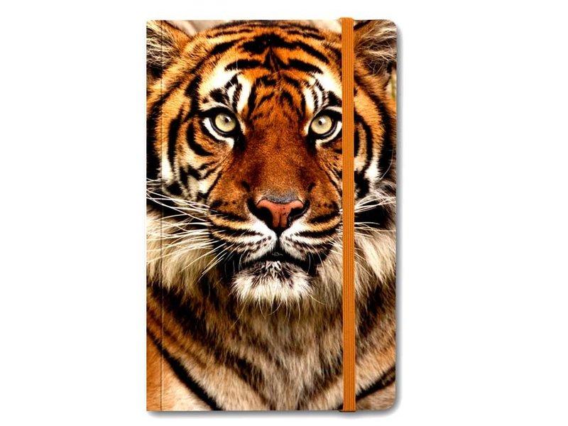 Carnet à couverture souple, tête de tigre
