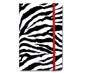 Softcover Book A6, Skin, Zebra