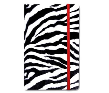 Softcover notitieboekje A6,  Huid Zebra