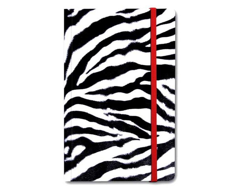 Cuaderno de tapa blanda, piel de cebra