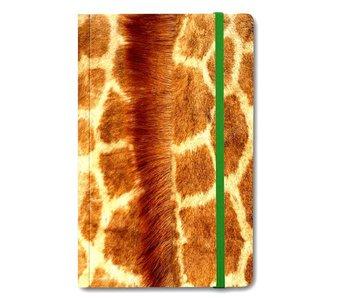 Cuaderno de tapa blanda A6, piel de jirafa