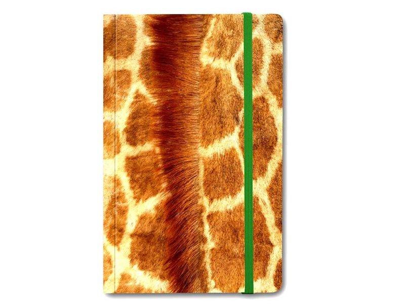 Cuaderno de tapa blanda, piel de jirafa