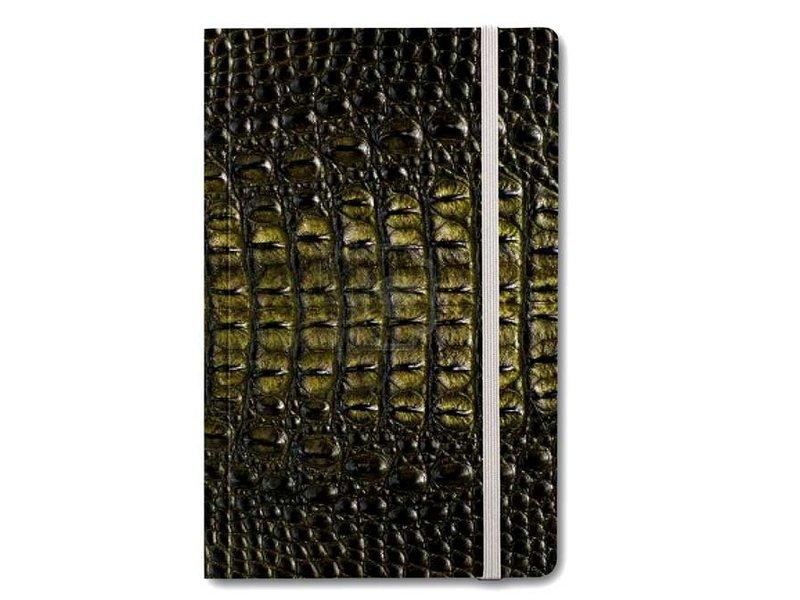 Softcover-Notizbuch, Krokodilleder