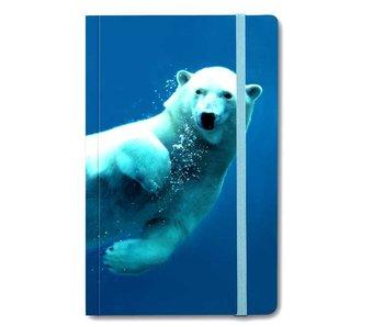 Cuaderno de tapa blanda A6, oso polar