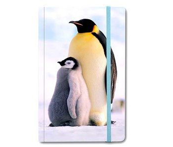 Cuaderno de tapa blanda A6, pingüinos