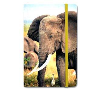 Cuaderno de tapa blanda A6, Elefante