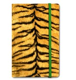 Cuaderno de tapa blanda, piel de tigre