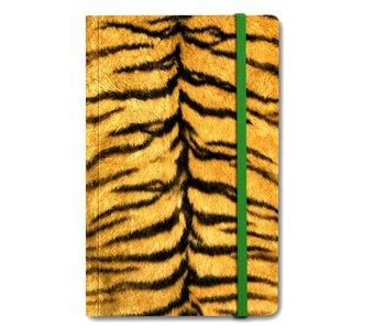 Cuaderno de tapa blanda A6, piel de tigre