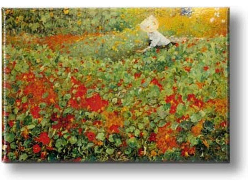 Koelkastmagneet, De tuin, Van Looy