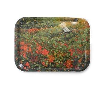 Tablett Laminat groß, Van Looy, Der Garten