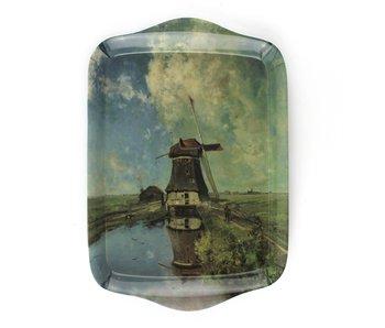 Mini bandeja, 21 x 14 cm, molino en el mes de julio, Gabriel