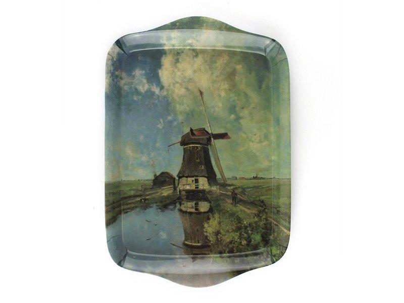 Mini plateau, 21 x 14 cm, Moulin au mois de juillet, Gabriel