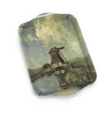 Mini Tablett, 21 x 14 cm ,, Mühle im Monat Juli, Gabriel