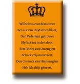 Kühlschrankmagnet, Hymne Wilhelmus van Nassouwe