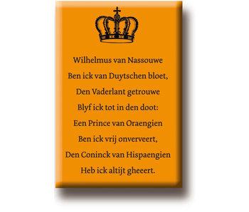 Imán de nevera, Himno Wilhelmus van Nassouwe