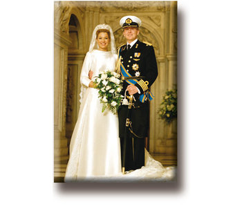 Fridge magnet, King Willem-Alexander and Queen Máxima