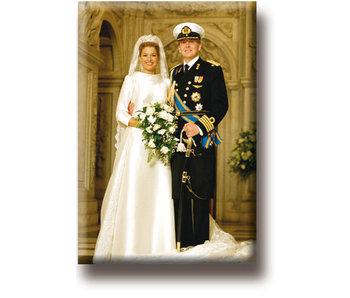 Kühlschrankmagnet, König Willem-Alexander und Königin Máxima