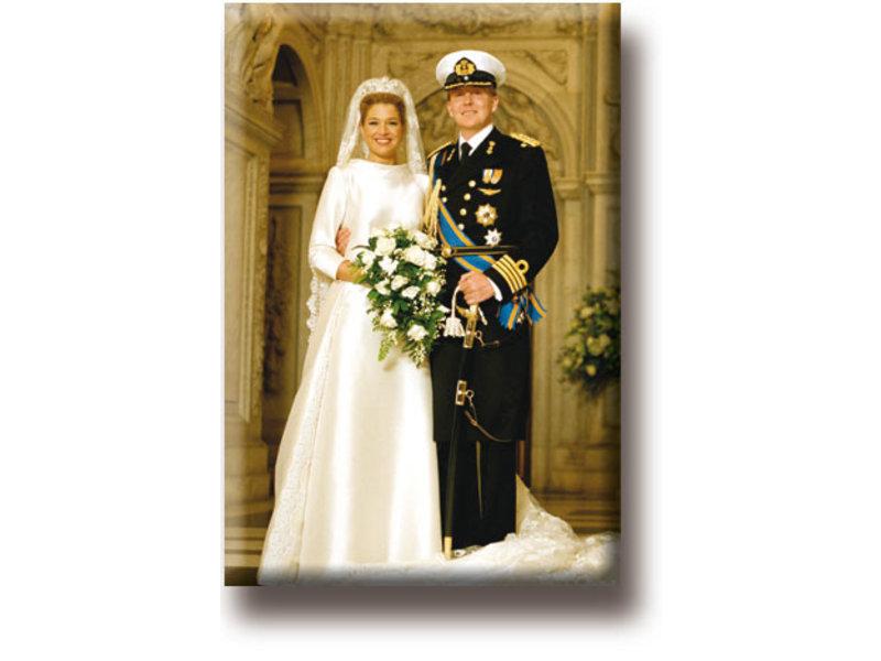 Imán de nevera, el rey Willem-Alexander y la reina Máxima