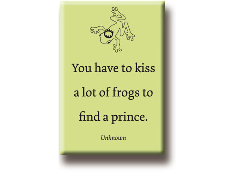 Imán de nevera, besa una rana