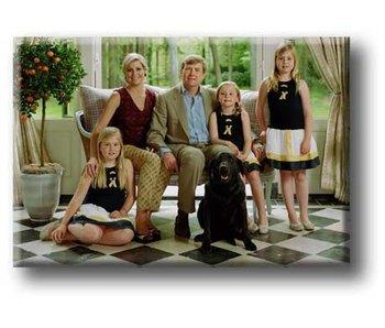 Aimant pour réfrigérateur, famille royale