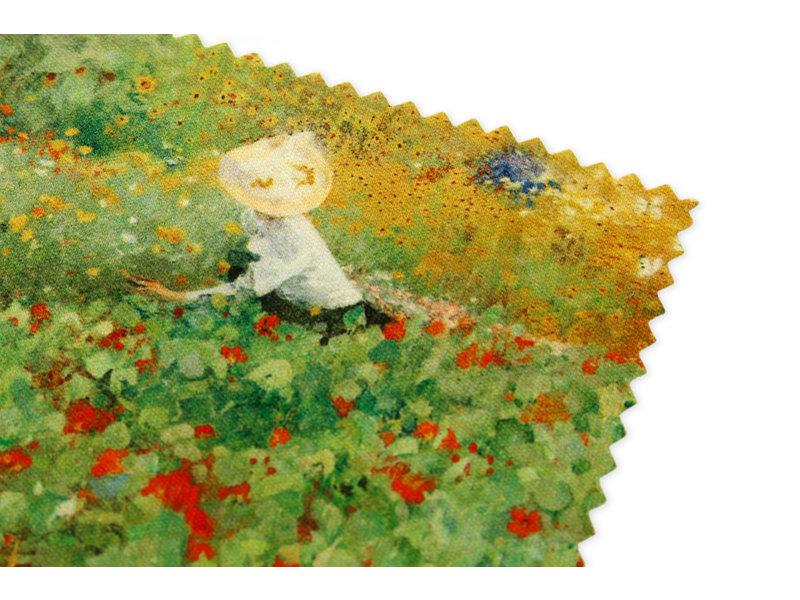 Brillenputztuch , 15 x 15 cm, Der Garten, Van Looy
