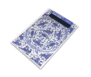 Brillendoekje, 10 x 15 cm, Delfts blauw, Bord van faience