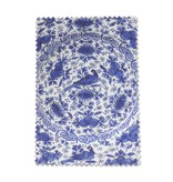 Linsentuch, 10 x 15 cm, Delfter Blau, Fayence-Platte