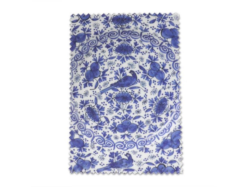 Paño de gafas, 10 x 15 cm, azul de Delft, placa de loza