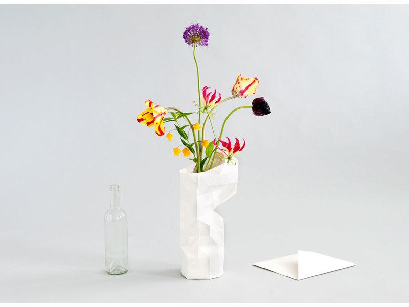 Vase en papier, maisons du canal d'Amsterdam