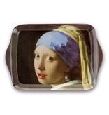 Mini plateau, 21 x 14 cm, Fille avec une boucle d'oreille en perle, Vermeer
