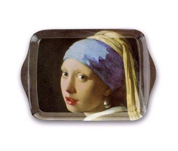 Mini bandeja, 21 x 14 cm, niña con pendiente de perla, Vermeer
