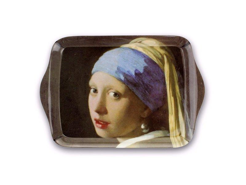 Mini dienblad , 21 x 14 cm,  Meisje met de parel , Vermeer