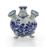Delft blue tulip vase, round, 17 cm D300