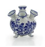 Vase tulipe bleu de Delft, rond, 17 cmD300