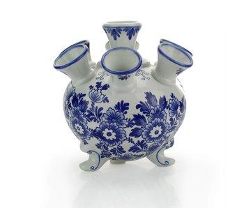 Delfts blauwe tulpenvaas , rond , 17 cm