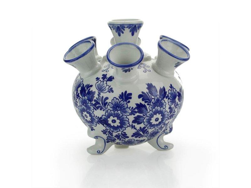 Delfts blauwe tulpenvaas , rond , 17 cm D300