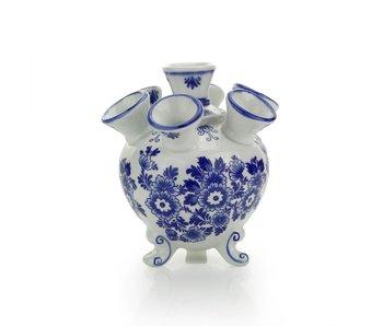 Delfter blaue Tulpenvase, rund, 14 cm