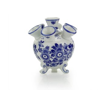 Delfts blauwe tulpenvaas , rond , 14 cm