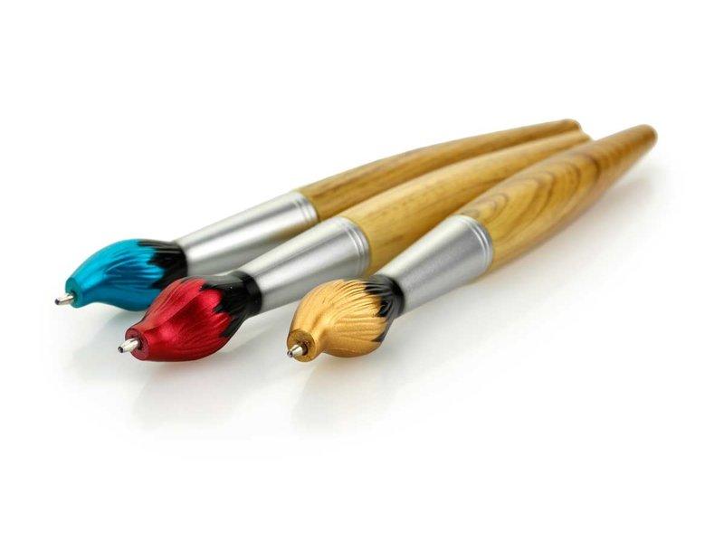Stylo à bille pinceau, pointe bleue