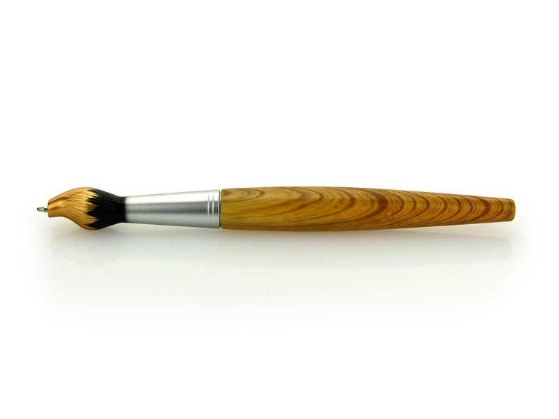 Brush ballpoint pen,  gold tip